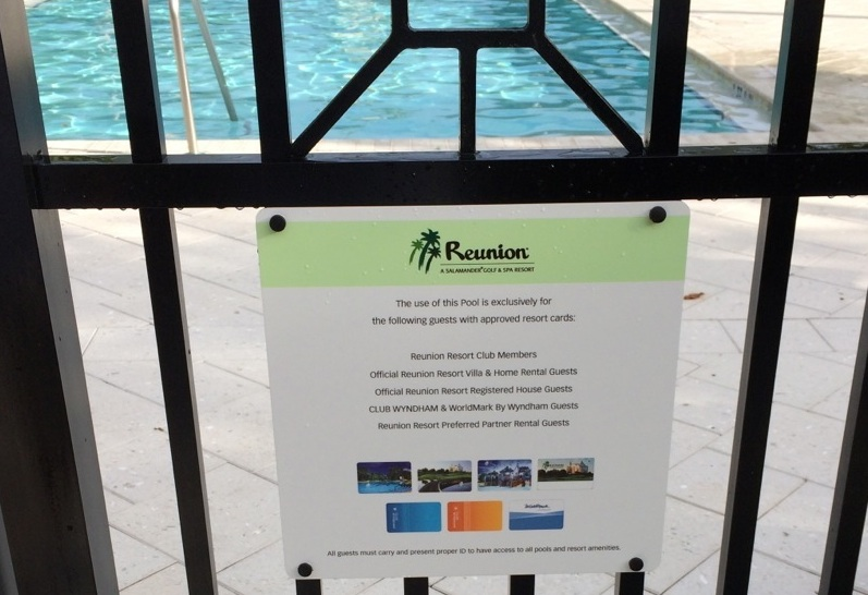 Pool Member Card Sign