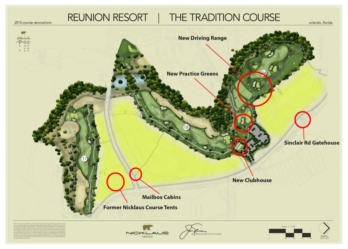 New PGA Nicklaus Layout at Reunion Resort