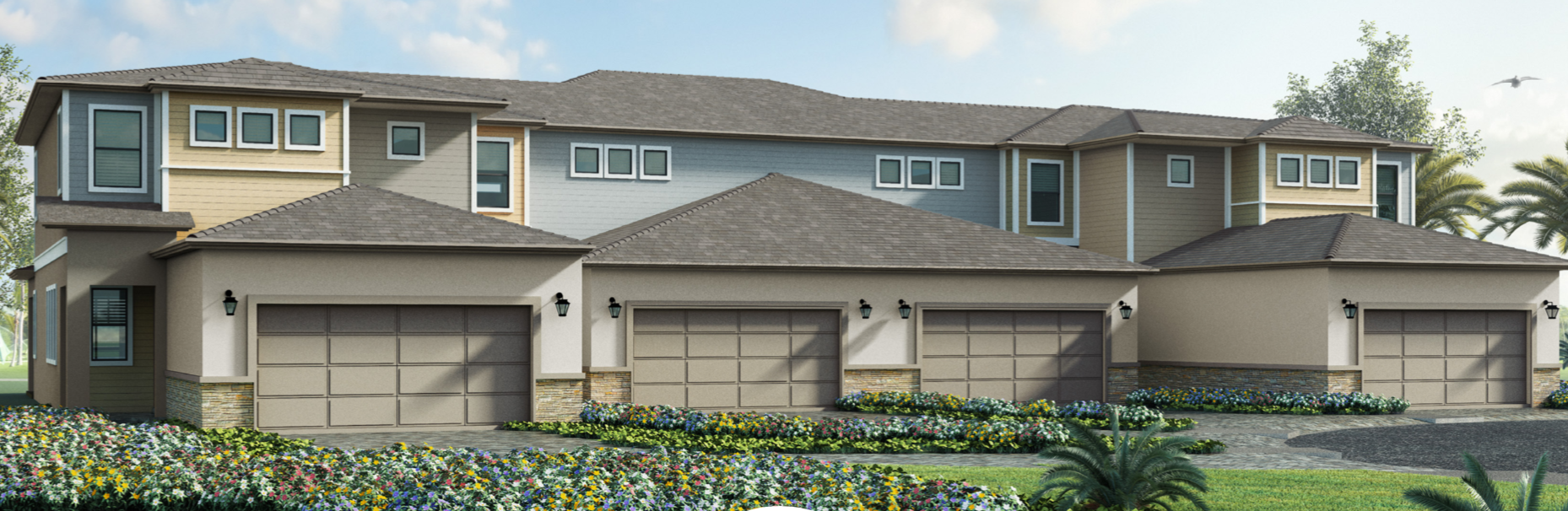 Eagle Trace Reunion Townhome Elevations